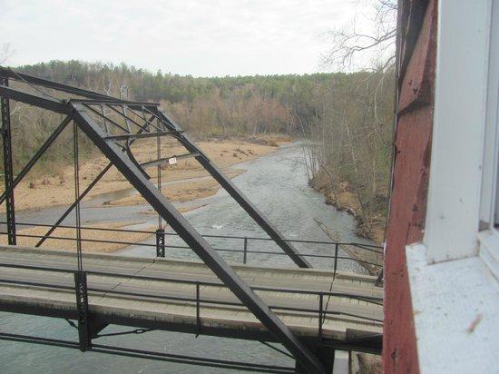 War Eagle Mill : Fishing off the bridge
