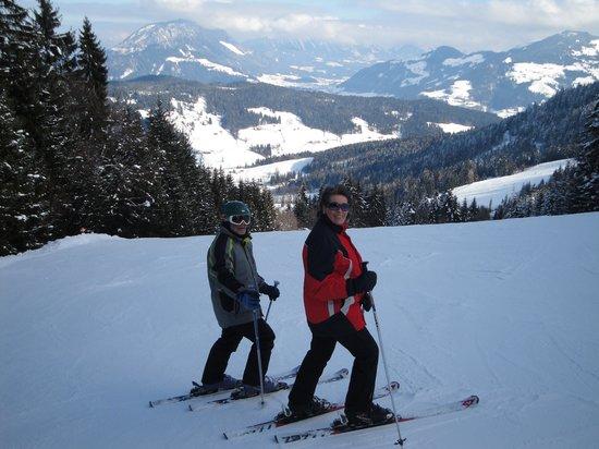 Pension Sonja: Ski piste markjochbahn Niederau feb 2013