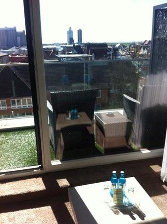 Thomas Hotel: Härlig utsikt från rummet!