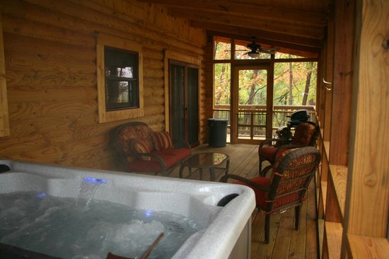 Valley View Cabins : Morning Glory Hot Tub / Screened In Porch