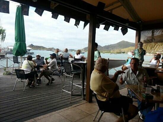 Sint Maarten Yacht Club Bar & Restaurant: looking outside from bar