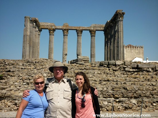 Lisbon Stories: Julia, Steve and our guide Ana in Evora.