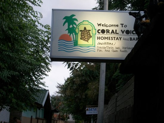 Coral Voice Home Stay and Bar: insegna