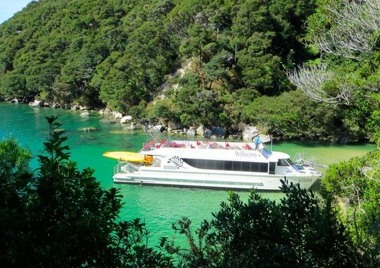 Abel Tasman National Park, Nueva Zelanda: The Wilson's 'Voyager' boat