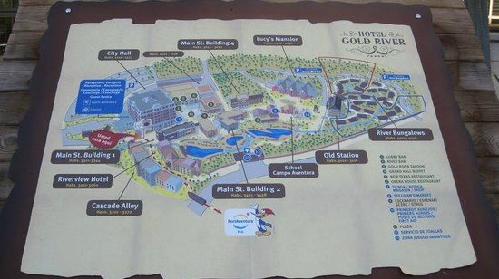 mapa del hotel Picture of PortAventura Hotel Gold River Salou