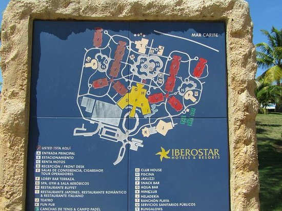Resort Plan Picture Of Iberostar Laguna Azul Varadero