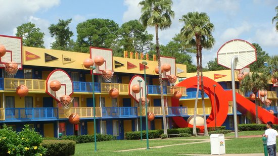 Disney's All-Star Sports Resort: themed buildings