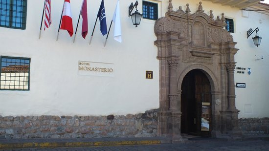 Belmond Hotel Monasterio: Front entrance off the small plaza
