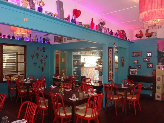 Rojo Rocket: The colourful and vibrant interior of the Restaurant