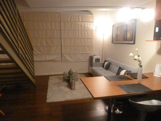 Agustina Suite: sala do flat