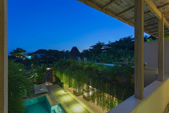 Pantai Indah Villas Bali: View from the veranda