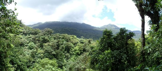 Sunset Tours : View of Tenorio Volcano Park from Rio Celste hike