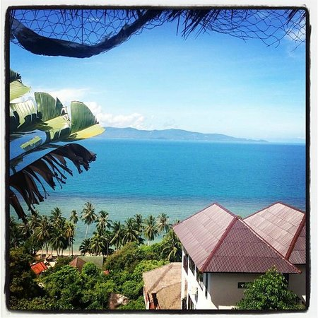 Chantaramas Resort: View from the lookout up the road from Chantaramas