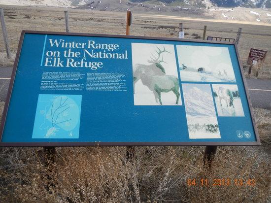 National Elk Refuge: refuge information sign