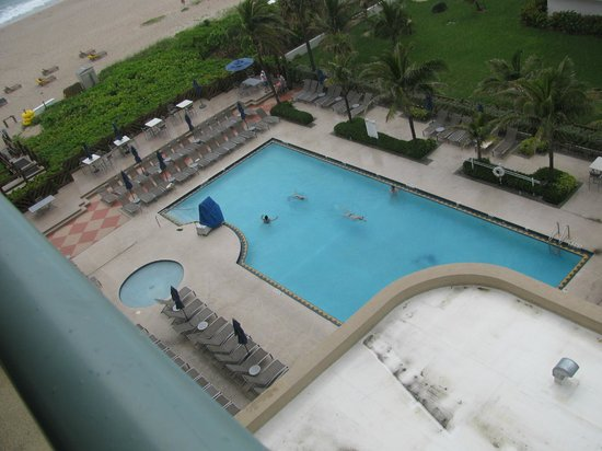 Hilton Singer Island Oceanfront/Palm Beaches Resort: Pool (from 7th floor room)