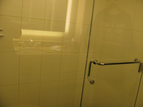 Hilton Singer Island Oceanfront/Palm Beaches Resort: Bathroom shower with swing in\out door