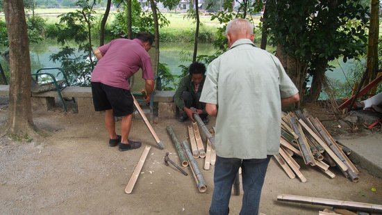 Yangmei Ancient Town of Nanning: Planning a bamboo irrigation system