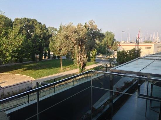 DoubleTree by Hilton Hotel Kusadasi: View from balcony - overlooking half completed construction and road.