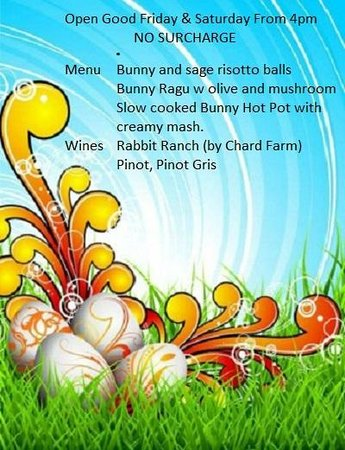 Ragu Wine Bar and Restaurant : Easter Special