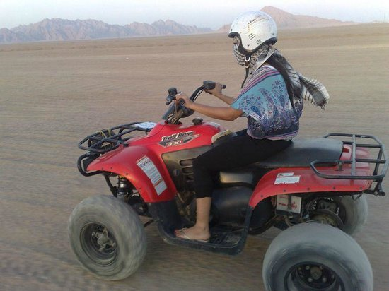 Sharm Touring Egypt - Day Tours: Riding a quad bike in the Sinai Desert at Sharm el Sheikh