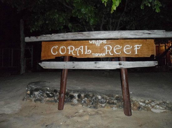 Coral Reef Holiday Beach Resort: Coral reef TIoman