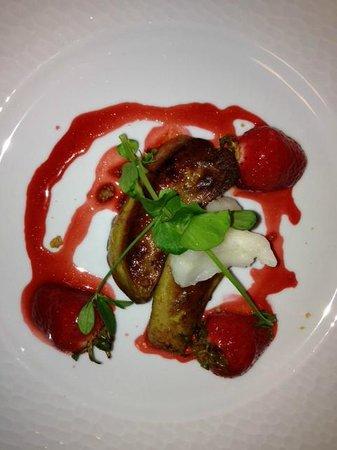 la Table 2 Julien : foie gras poêlé aux fraises
