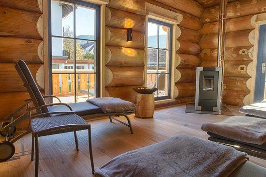 Hotel Lamm : Ruheraum der Blockhaus- Sauna