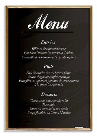 Le bistrot de Paris: Apercu du menu a 29,90