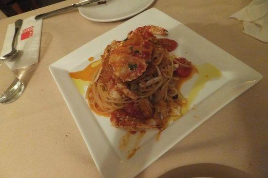 Isola del Nord Italy Restaurant: spagetti crab tomato cream sourse