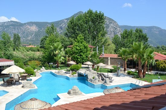 Hotel Grenadine Lodge: garden and pool
