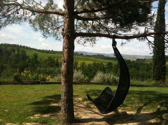 Il Grande Prato: chair with view