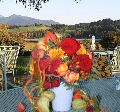 Parkhotel am Soier See: Herbst auf der Seeterrasse, Bad Bayersoien, Parkhotel