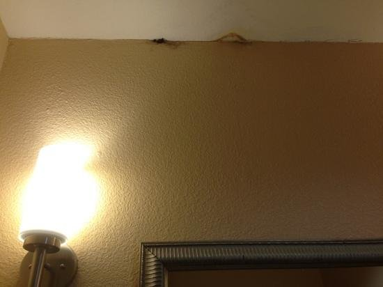 Holiday Inn Express Hotel & Suites Galveston West - Seawall: Nast spots above mirror in room 226