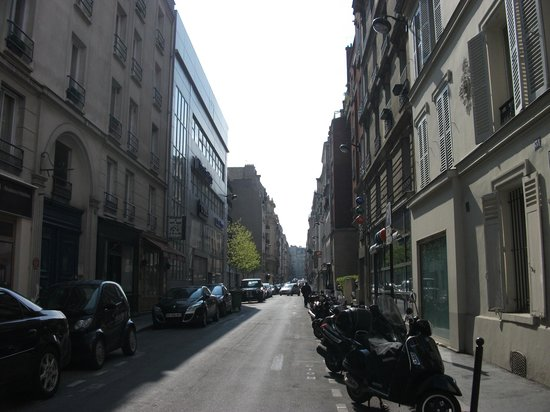 Residhotel Imperial Rennequin: View of the street from outside the hotel