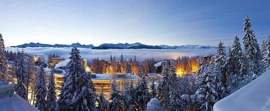 Hotel Alpina & Savoy : Vue hiver