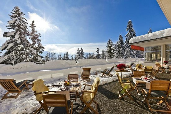 Hotel Alpina & Savoy : Terrasse