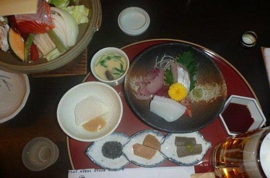 Hishino Onsen Tokiwakan: 夕食の1部