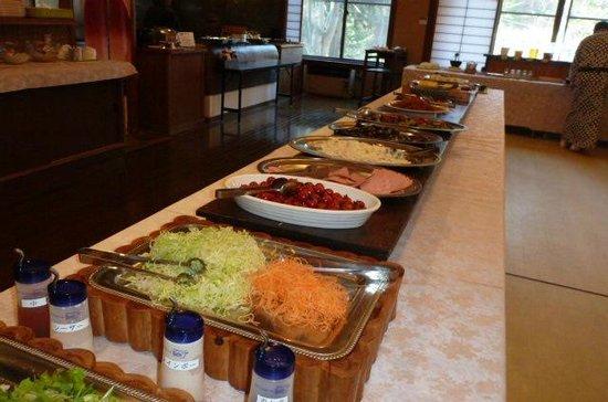 Hishino Onsen Tokiwakan: 朝食バイキングの料理の1部