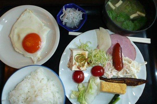 Hishino Onsen Tokiwakan: 朝食の1部