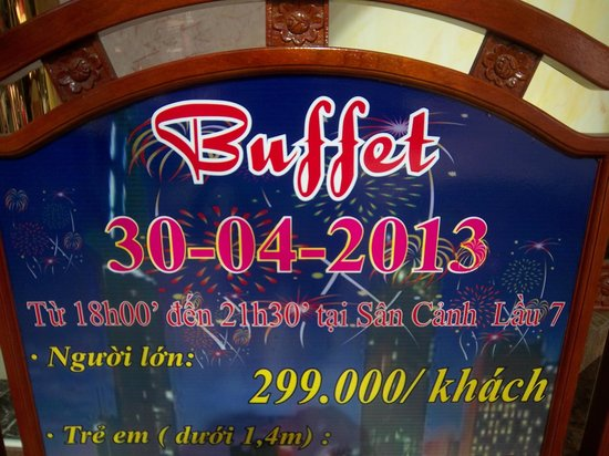 Huong Sen Hotel: Good buffet