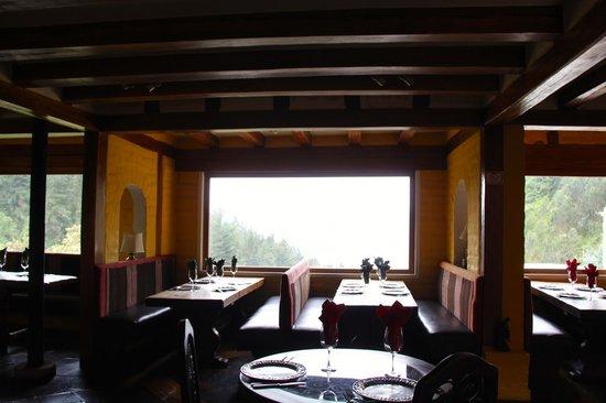 Hacienda Rumiloma: The main dining room