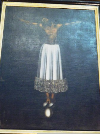 Chiesa di San Giovanni Evangelista: Dipinto del Cristo di Burgos Sec. XVII