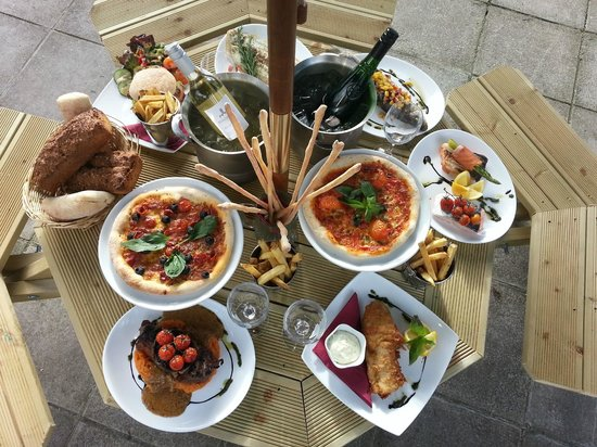 The Eldon Bar, Pizzeria & Grill: A selection of our Summer Menu in the Restaurant Garden
