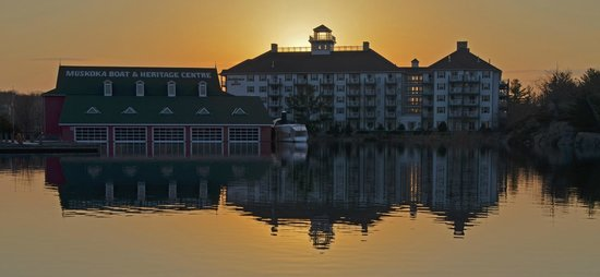 Residence Inn Gravenhurst Muskoka Wharf: View from across the bay.
