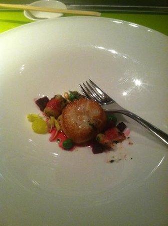 Morimoto: Seared scallop.