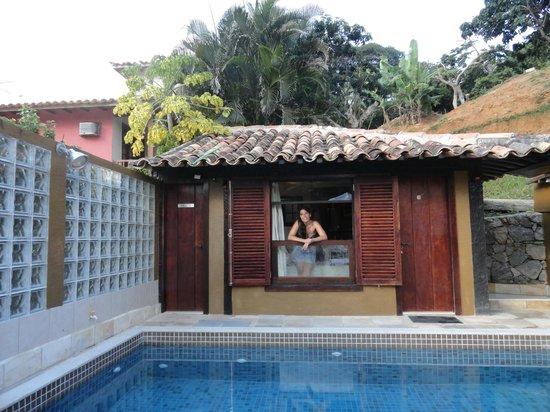 Pousada Praia Joao Fernandes: Ventana de la habitacion