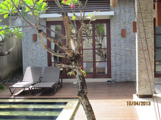 The Wolas Villas & Spa: View from private pool to bedroom