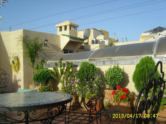 Roof terrace in Dar Dalila
