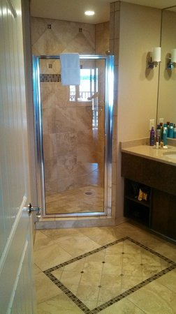 Lake Lawn Resort: King suite shower