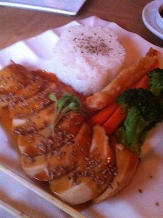 Sushi Q: chicken teriyaki